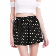 VISNXGI Casual Polka Dot Tailored Shorts Women Summer Mid Waist Printed Wide Leg Shorts 2019 New Fashion Lady Bottom Shorts Hot
