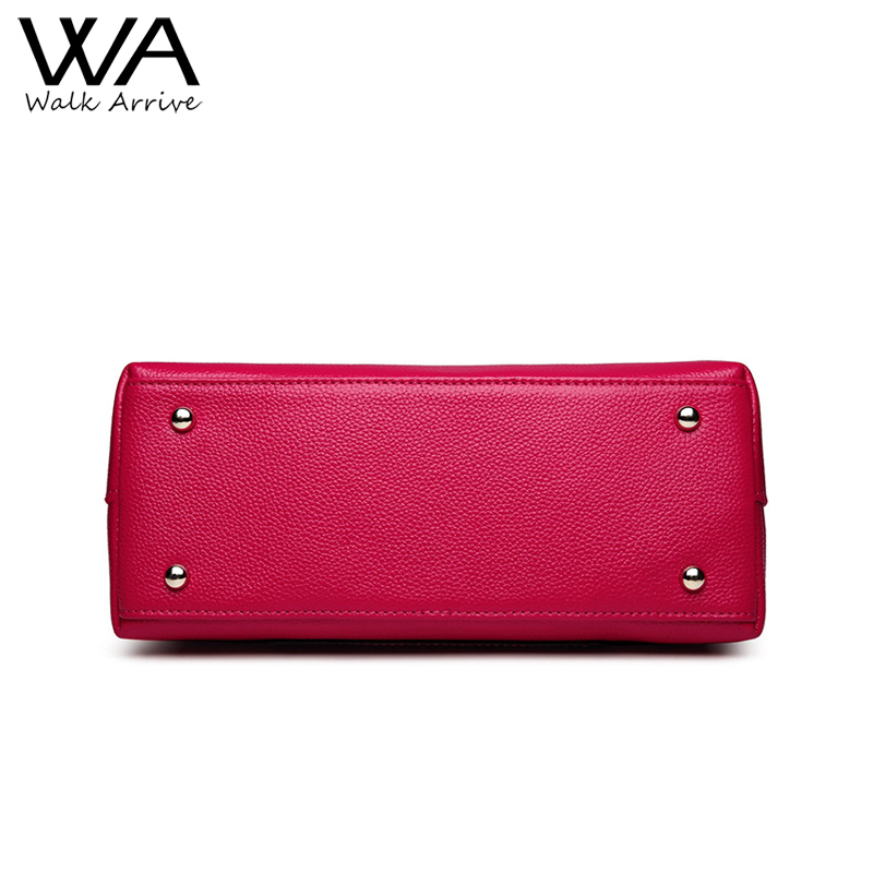 walk arrive bolsa do couro Exterior Structure : 2 Alças, 1 Shoulder Strap