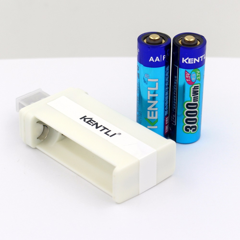Batterie Aa Us 22 19 26 Off 2pcs Kentli 1 5v 3000mwh Li Polymer Li Ion Lithium Rechargeable Aa Battery Batteries With 2slots Usb Cu57 Charger In Replacement