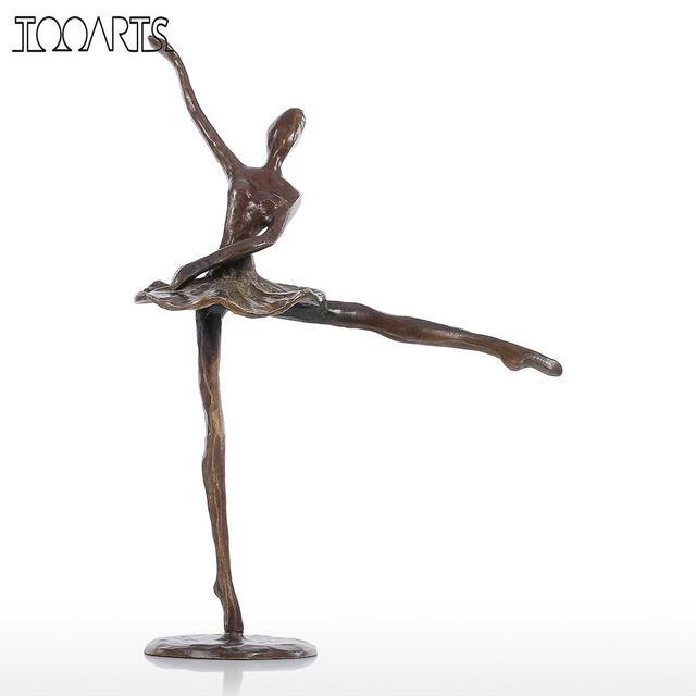 Deko Skulpturen Modern tooarts mini figuren ballett bronze statue künstliche wohnkultur