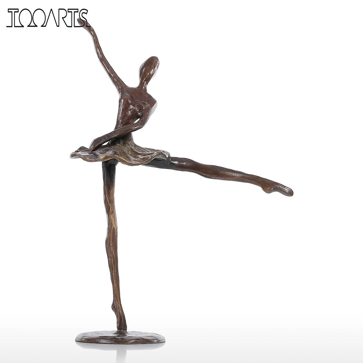 compare prices on metal dancing figurine online shoppingbuy low  - tooarts mini figurines ballet bronze statue artificial home decor metalsculpture modern dance gift home decoration