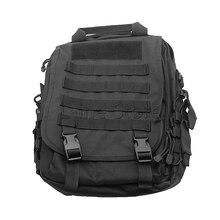 Airsoft Tactical Hombres Mochila Negro Bolsa de Ordenador Portátil de Usos Múltiples Del Bolso Táctico Militar Bolsa de Hombro Del Ordenador