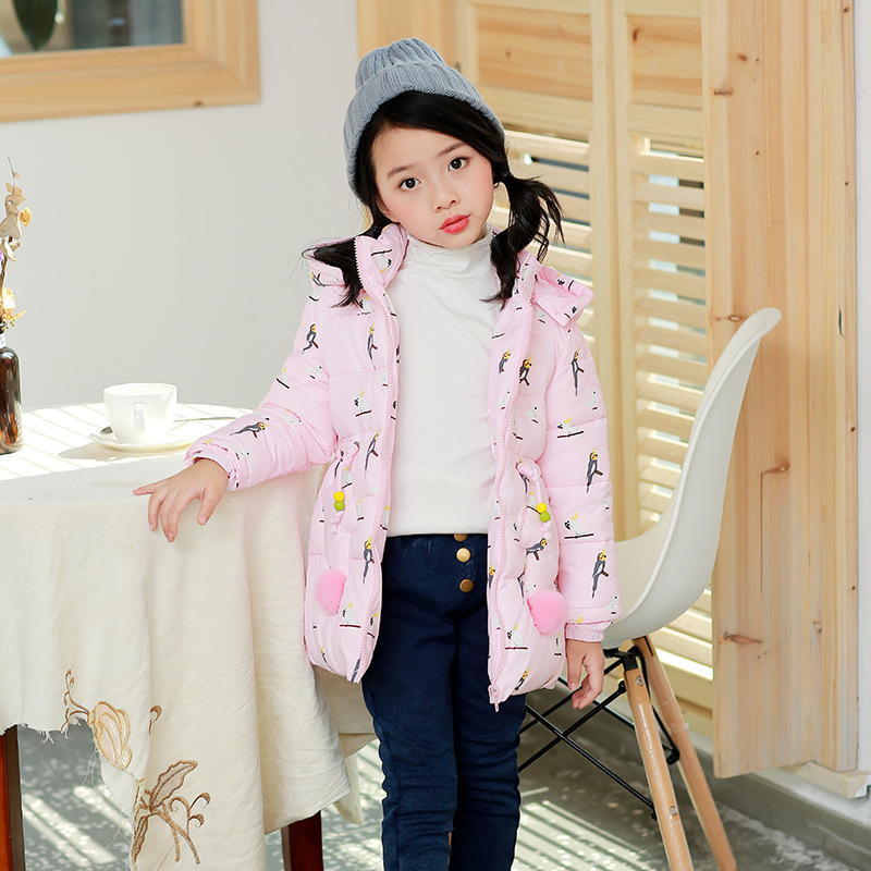 Winter Hooded Jackets For Girl Fashion 2017 Warm Down Coat Outerwear Toddler Baby Clothing Infant Clothes High Quality fashion girl thicken snowsuit winter jackets for girls children down coats outerwear warm hooded clothes big kids clothing gh236