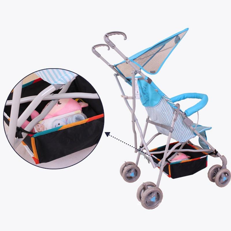 New Baby Stroller Storage Basket Botton Net Bag Pram ...