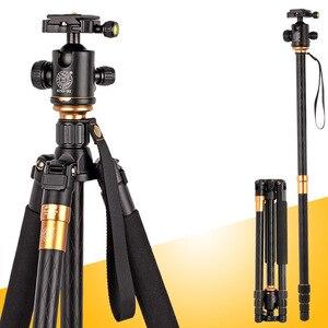 Image 1 - QZSD – trépied professionnel Q999, monopode Portable, tête sphérique détachable, alliage de magnésium et daluminium, photographie pour appareil photo DSLR