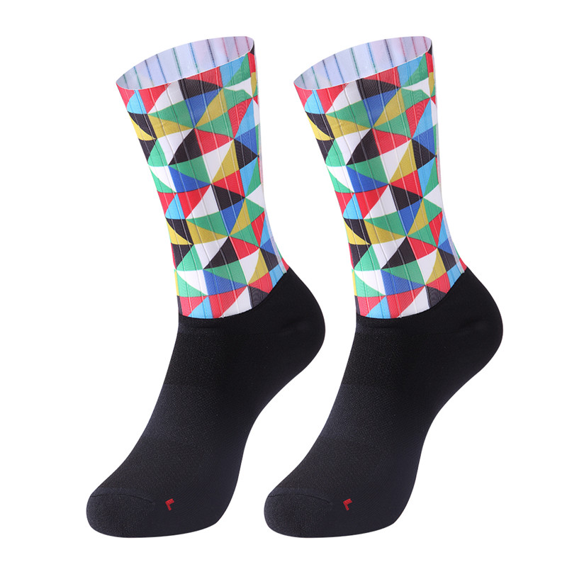 High Quality New Anti Slip Cycling Socks Men Women Integral Moulding High-tech Bike Sock Compression Bicycle Outdoor Runni sk19