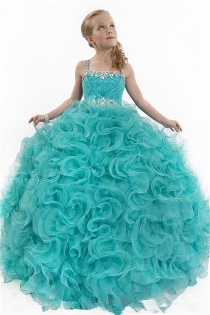 Aqua Pageant Dresses