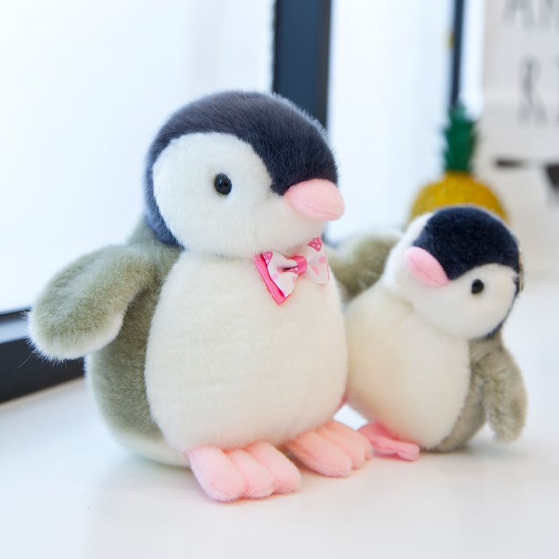 Stuffed-Toys Baby-Dolls Penguin Sound Plush-Animals Small Mini Cartoon Cute Birthday-Gift