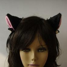 Pár krásných kožešinových kočičích uší na maškarní