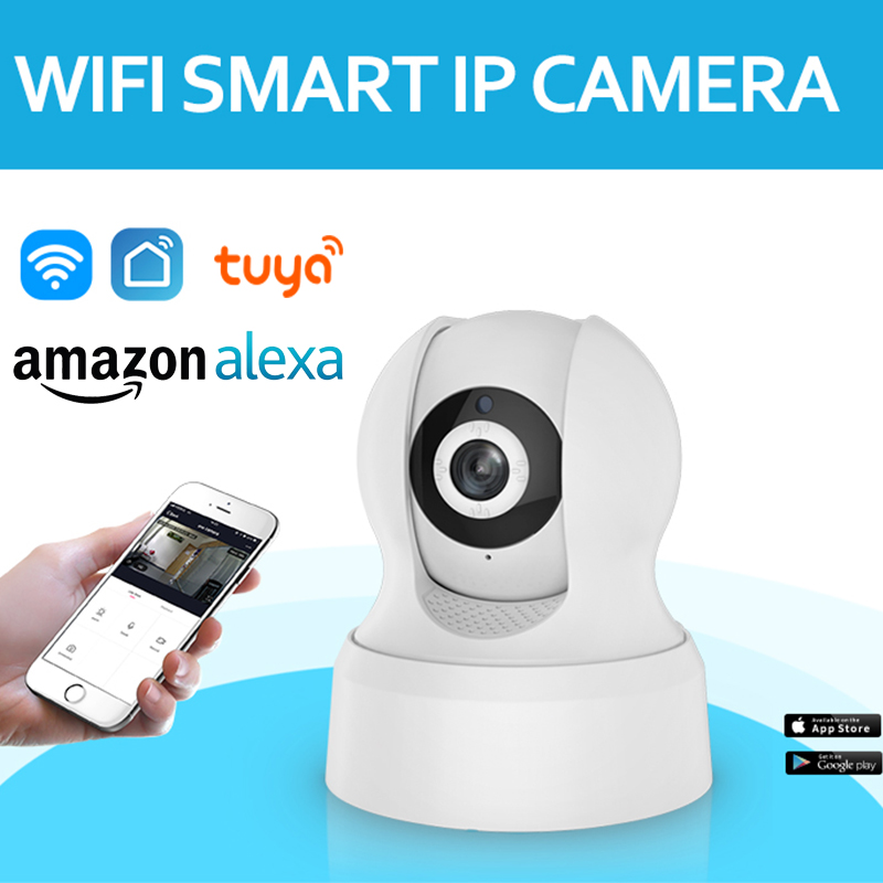 HD Tuya Smart Life Alexa Wireless IP Camera Two Way Audio Pan Tilt Digital Zoom Security