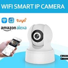купить HD Tuya Smart Life Alexa Wireless IP Camera Two Way Audio Pan Tilt Digital Zoom Security Smart WiFi Camera дешево