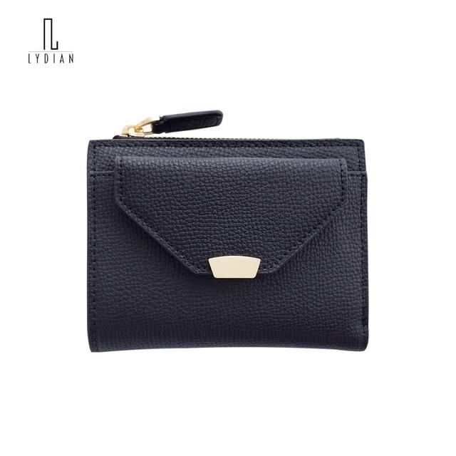 Lydian Leather Wallets Short 2018 Korean Wave Small Fresh Spring Summer New Bags Simple Ultra-Thin Purse Buckle Geldbeutel Damen