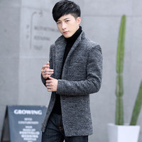 Cloth in the fall and winter fashion popular cloth dust coat men coat suits woolen cloth coat of England New fashion