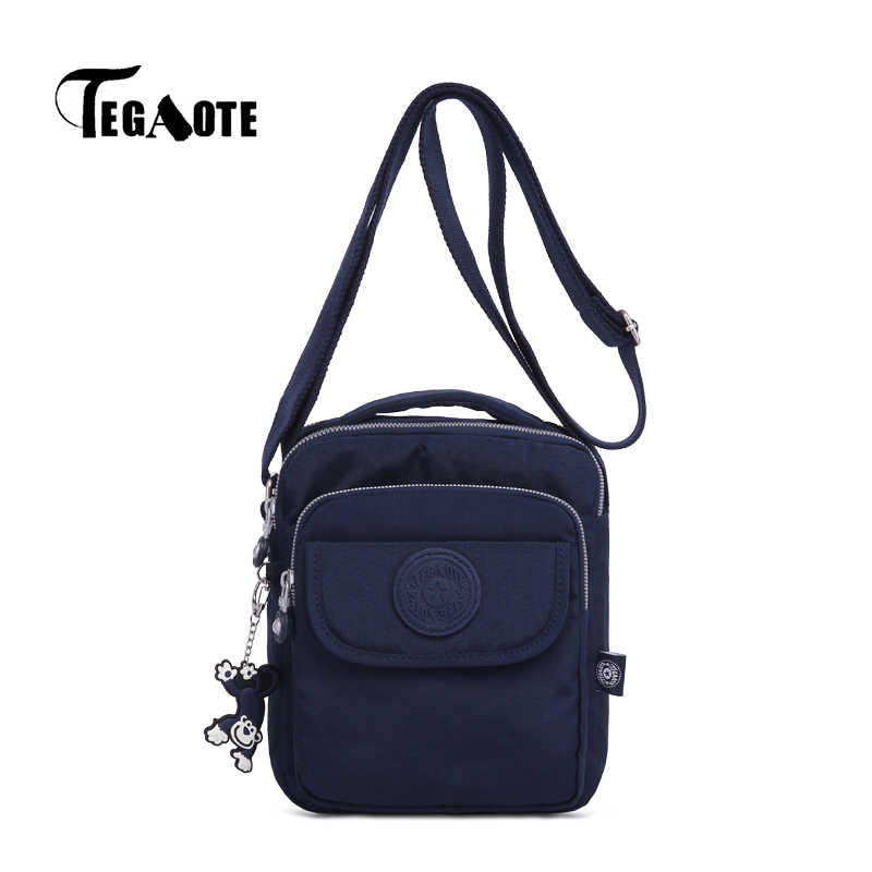 TEGAOTE Male Shoulder Bags Man's Messenger Bag Small Bolsa Masculina Casual  Nylon Business Travel Bag for Men's 2019 Newest