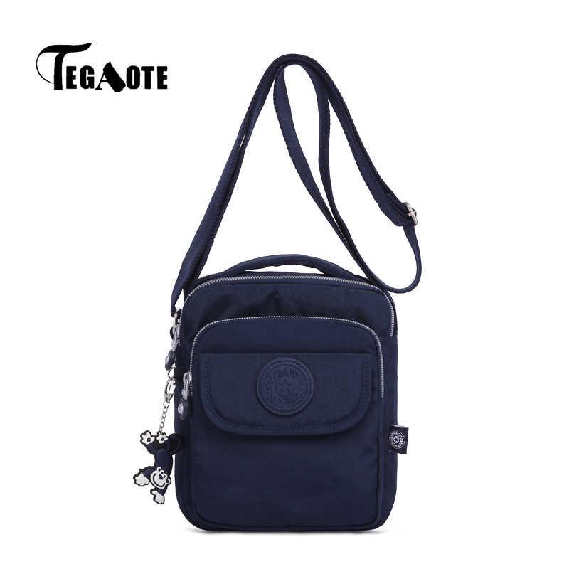 Tegaote masculino sacos de ombro saco do mensageiro do homem pequeno bolsa masculina casual náilon business travel bag para homem 2019 mais novo