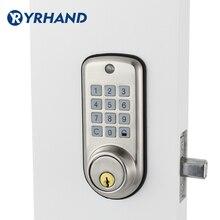 安いスマートホームデジタルドアロック、防水インテリジェントキーレスパスワードステンレスピンコードドアロック電子デッドボルトロック