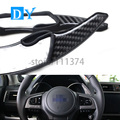 ABS Carbon fiber Steering Wheel Shift Paddle Extension Shifters sticker For Subaruu XV Legacy Outback Forester Impreza BRZ