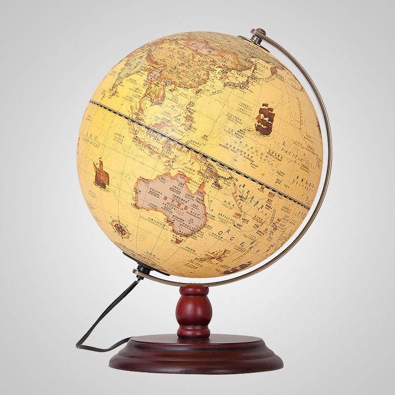 Cm Antique Earth Globe Table Lamp Geography Teaching World Map - World globe map for kids