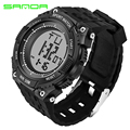 SANDA New Brand Watch Men Military Sport Watches Fashion Silicone Waterproof LED Digital Wristwatch For Men Clock digital-watch