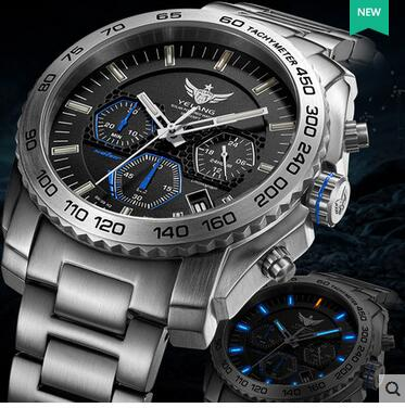 Yelang Men Quartz Watch Solar Energy Drive Tritium Light T100 Japan Movement WR100M Sapphire Date Energy Display Military Watch