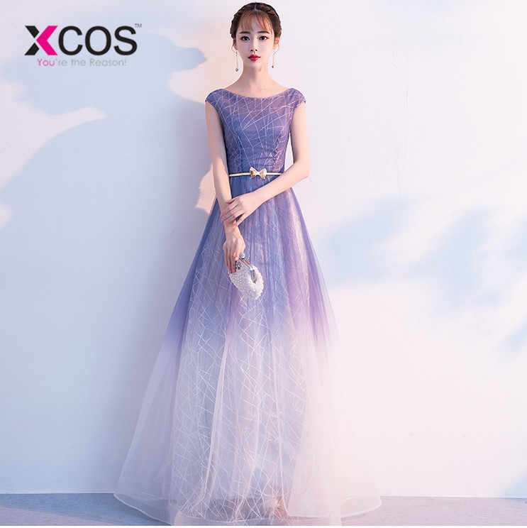 2937256f5a XCOS Summer Ombre Prom Dresses 2018 vestidos de gala Women Formal ...
