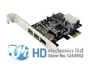Image 1 - Ücretsiz kargo PCIE Combo 2x 1394b + 1x 1394a Firewire Portları Pci express Denetleyici Kartı 1394 kart TI Yonga Seti 6pin kablo win10
