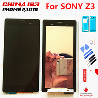 Black White For SONY Xperia Z3 Display Touch Screen Digitizer For SONY Xperia Z3 LCD Screen