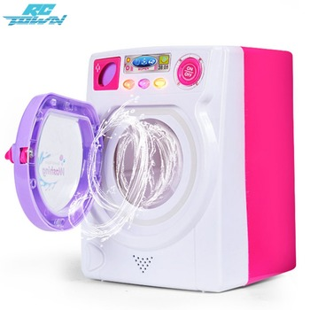 RCtown Children Play House Game Toy Simulation Washing Machine Electric Toy with Light Sound random color zk30