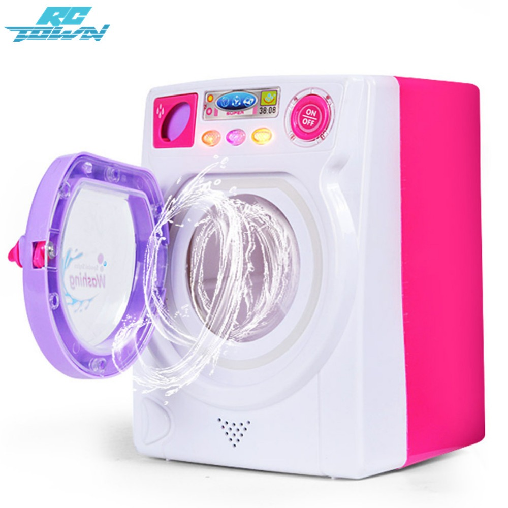 все цены на RCtown Children Play House Game Toy Simulation Washing Machine Electric Toy with Light Sound random color zk30