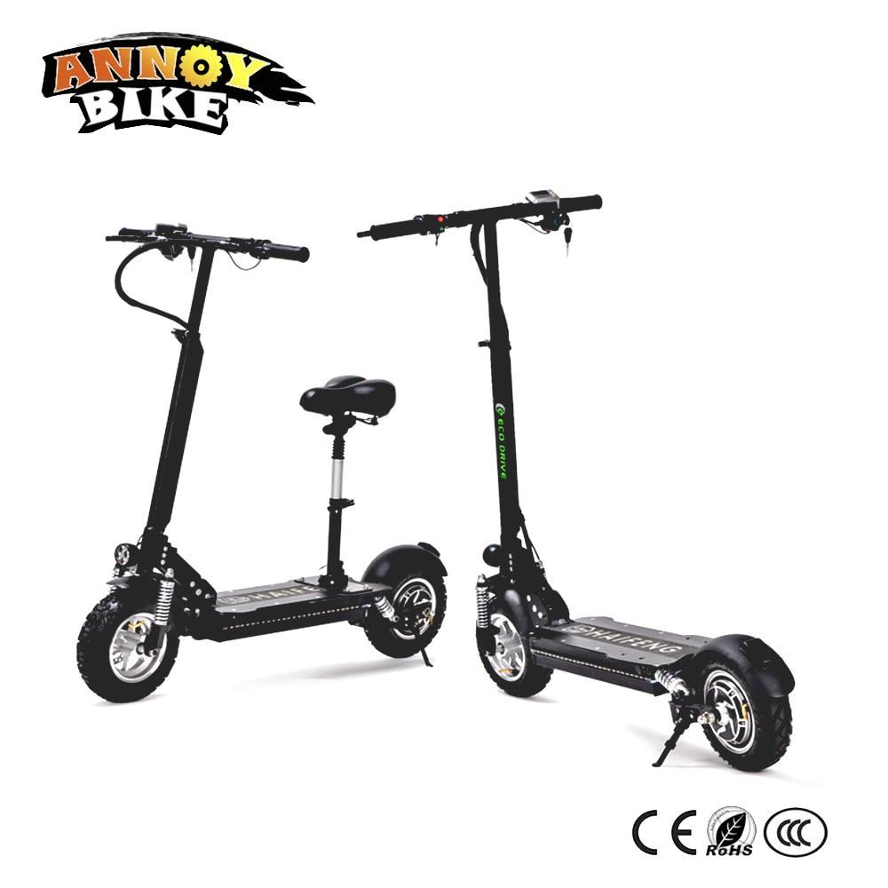 11 pouces 48 V 1000 W vélo électrique Scooter Ebik Bicicleta Electrica moto électrique Eike 60 km/h avec siège velo electrique adulte