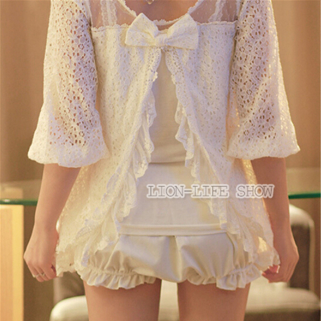 Lolita white pink black women cosplay LUMINOUS MISSION HIGH SCHOOL bloomer hot shorts short pants