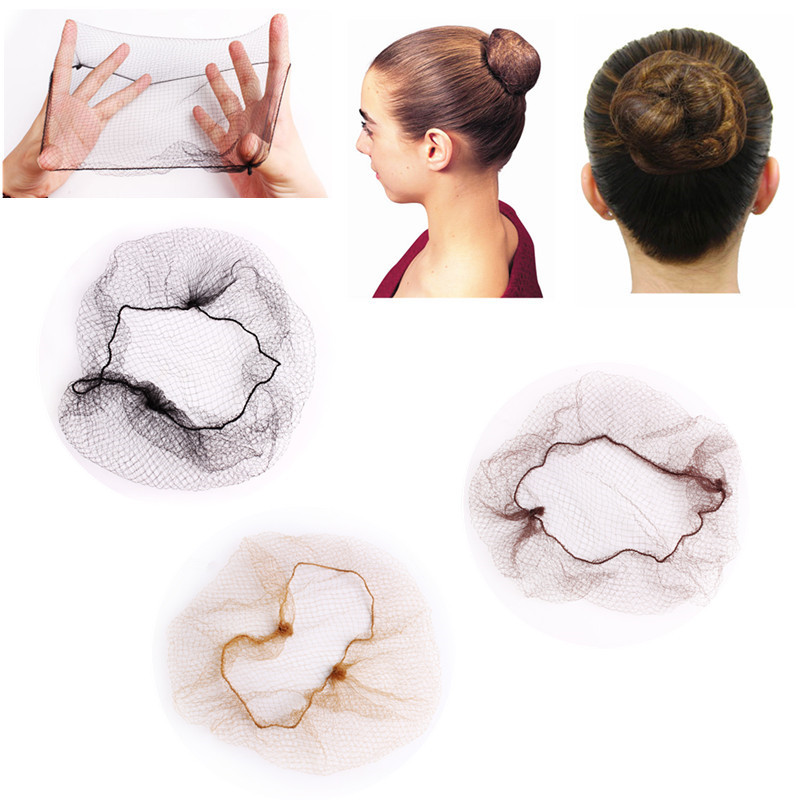 10 Pcs Hairnet 5mm Nylon Hair Nets Invisible Disposable Hair Net 20inch Five Colors Dancing Hairnet For Bun Hair Styling Beauty