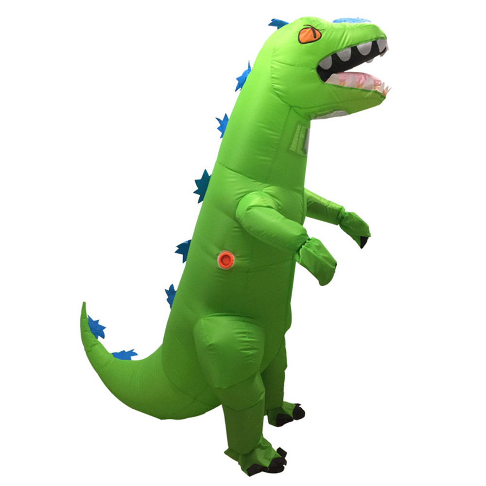 cosplay inflatable green dinosaur costume For Anime Expo traje de dinosaurio inflable Blowup disfraces adultos costume for adult