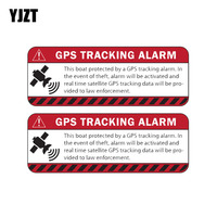 YJZT 14CM*4.7CM 2X GPS TRACKING ALARM Warning Mark The Tail Of The Car Reflective Car Sticker C1-7599