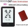 Frontlight onyx boox c67ml carta e libro + caja original con 3000 mah batería de litio táctil pantalla eink de lector de libros electrónicos 8g wifi