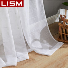 LISM Modern Linen Tulle Curtains for the Bedroom Living Room The Kitchen for Thick Voile Tulle Curtain for Window Sheer Drapes