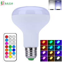 RGBW LED Bulb 10W RGB White Light Bulb Decor LED Lamp E27 Dimmable Lampada With Remote