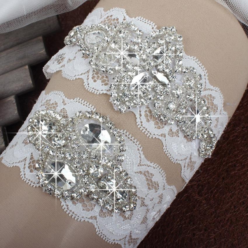 421beafe7df (2 pieces) Plus Size Garter Belt Ivory Bridal Garter Set Lace Wedding Ligas  Sexy Garter Belt Clips Woman Plus Size Stockings-in Garters from Underwear  ...