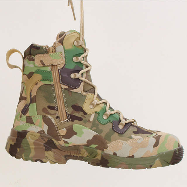 ea72e083d4f Tactical Military Soldier Boots For Men Climbing Trekking Hunting Walking  Mountain Camo Sneakers Man Hiking Shoes Outdoor