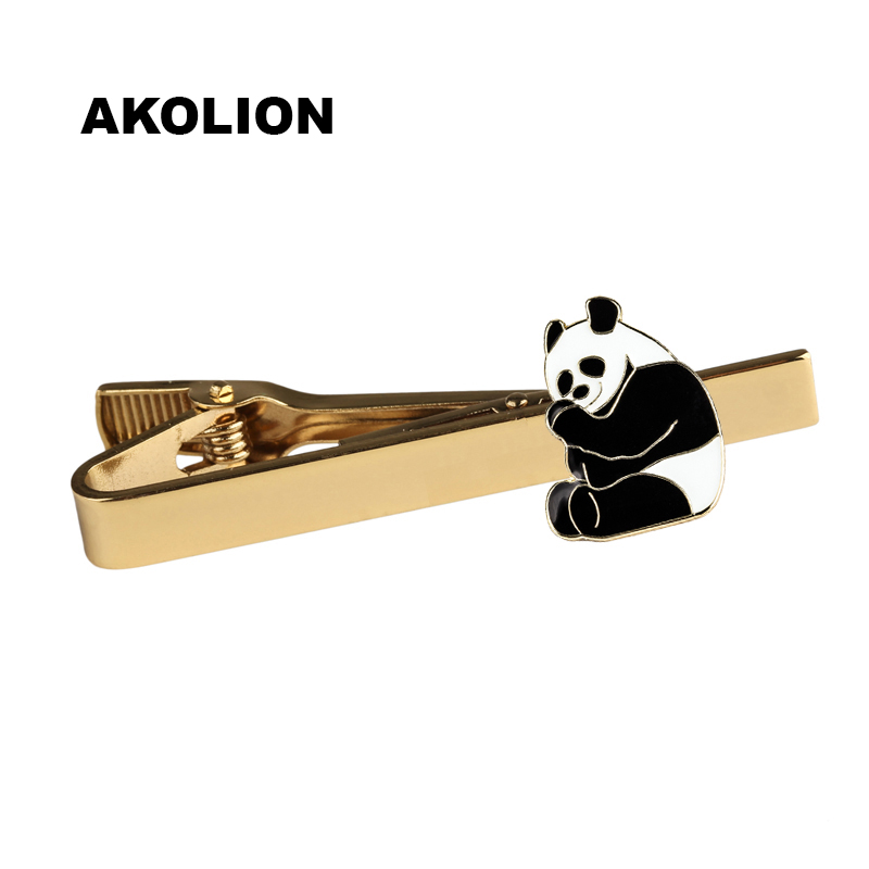 Panda Gold Bussiness Tie Clip Metal Tie Bar Clip Top Quality for Men Clothing Accessories 100pc