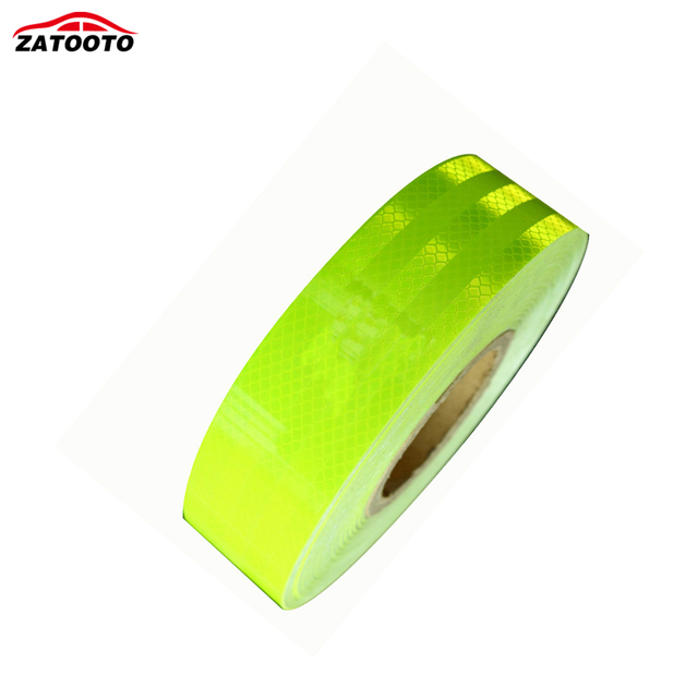 "2""*147' High Quality Fluorescent green Reflective Warning Conspicuity Tape conspicuity strips Reflective Material"