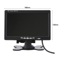 Auto Parts Desktop Display Monitor 7 Inch Car Monitors Back LCD Screen Preferred Support Multi Language TFT LCD Bracket
