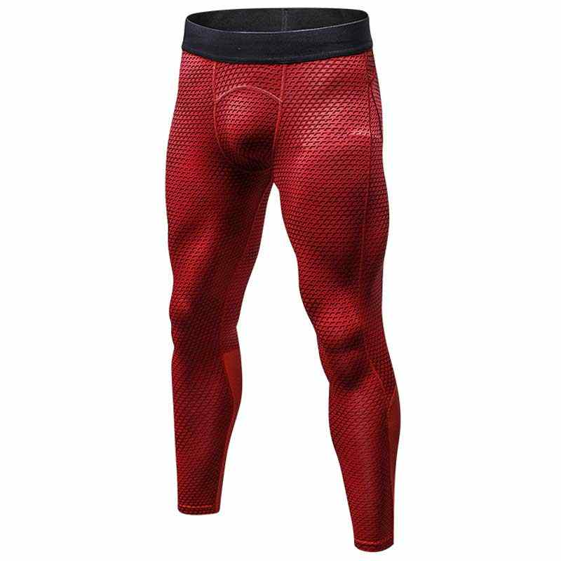 Men Pro Sporting Gymming Quick Dry Workout Compress Legging Bodybuilding Runs Slim Fitness Yogaing Camouflage Clothing Pant 4010