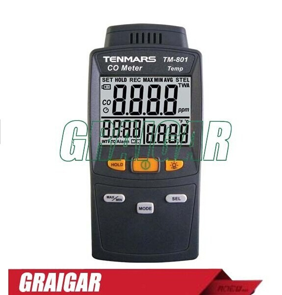 LED backlight carbon monoxide/CO detector tester TM-801