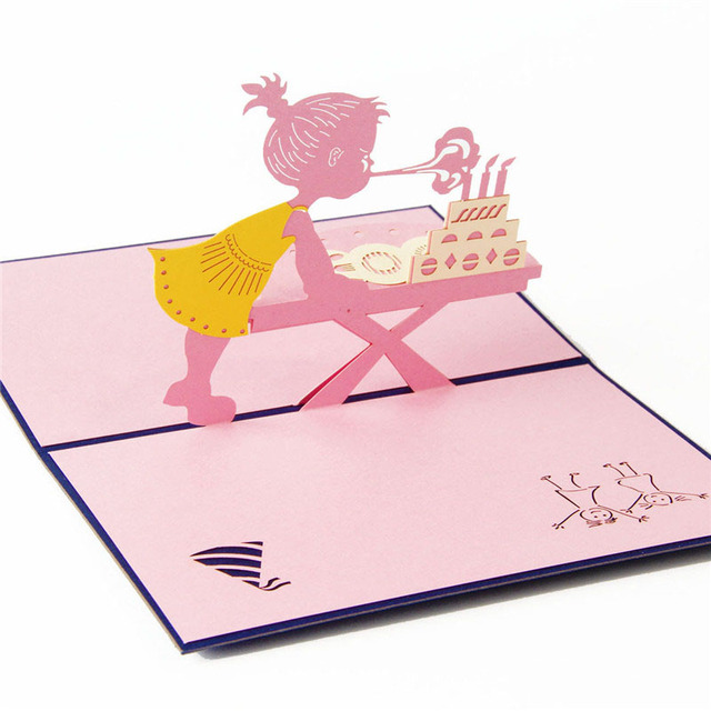 3d laser cut handmade birthday party blow out candle girl paper 3d laser cut handmade birthday party blow out candle girl paper invitation greeting cards postcard kids filmwisefo