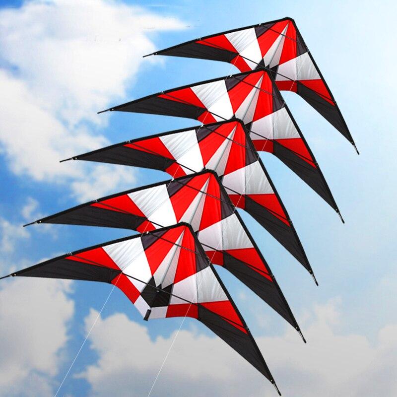 Livraison gratuite haute qualité 1.8m tempête volante double ligne cascadeur cerf-volant surf 5p série cerf-volant poignée ligne jouets d'extérieur albatros cerf-volant