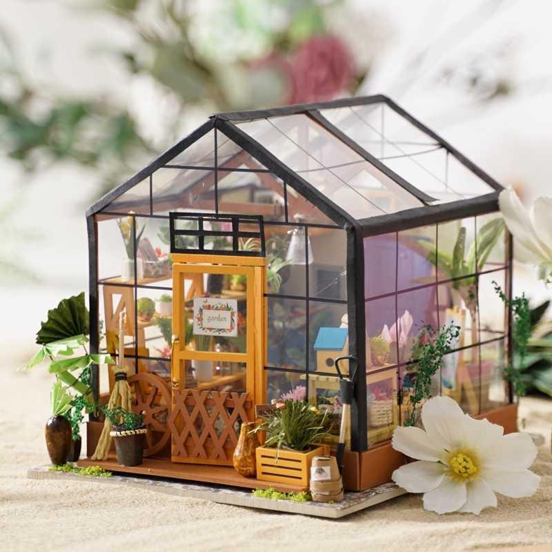 Робутон дропшиппинг DIY кукольный домик Миниатюрный со светом Кукольный дом мебель деревянные комплекты кукольных домиков для куклы Подарочные игрушки для детей