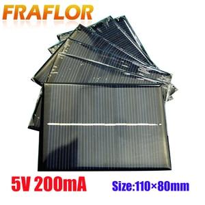 Image 1 - 10ชิ้น/ล็อตขายส่งDIY 1W 5V 200mA Solar Panel Chargerพลังงานแสงอาทิตย์โมดูลชาร์จสำหรับ3.6Vแบตเตอรี่หรือLi Ion Battry 110*80มม.