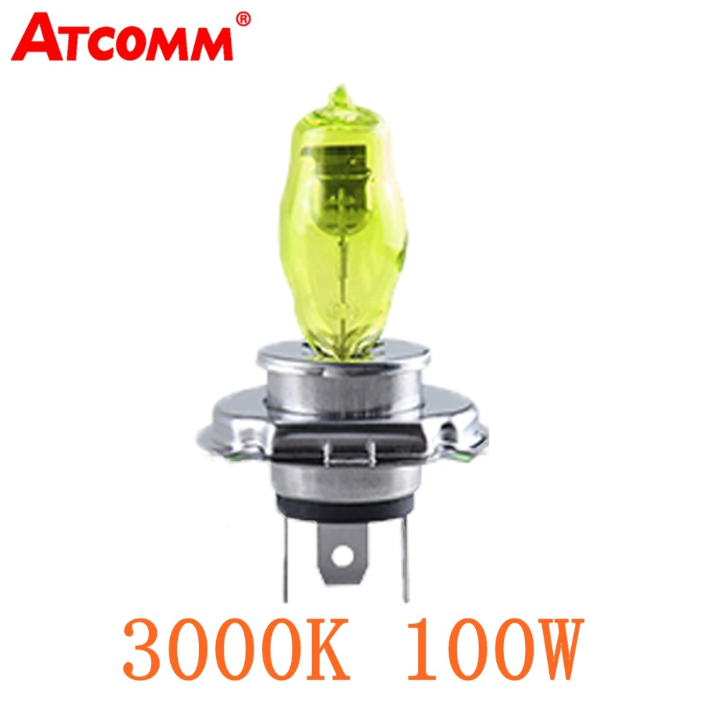 ATcomm 1 шт. 3000K H7 H4 Автомобильная галогенная лампа 12 В 100 Вт H1 H3 H8 H9 H11 H10 9005 HB3 9006 HB4 Автомобильная галогенная лампа противотумансветильник фара