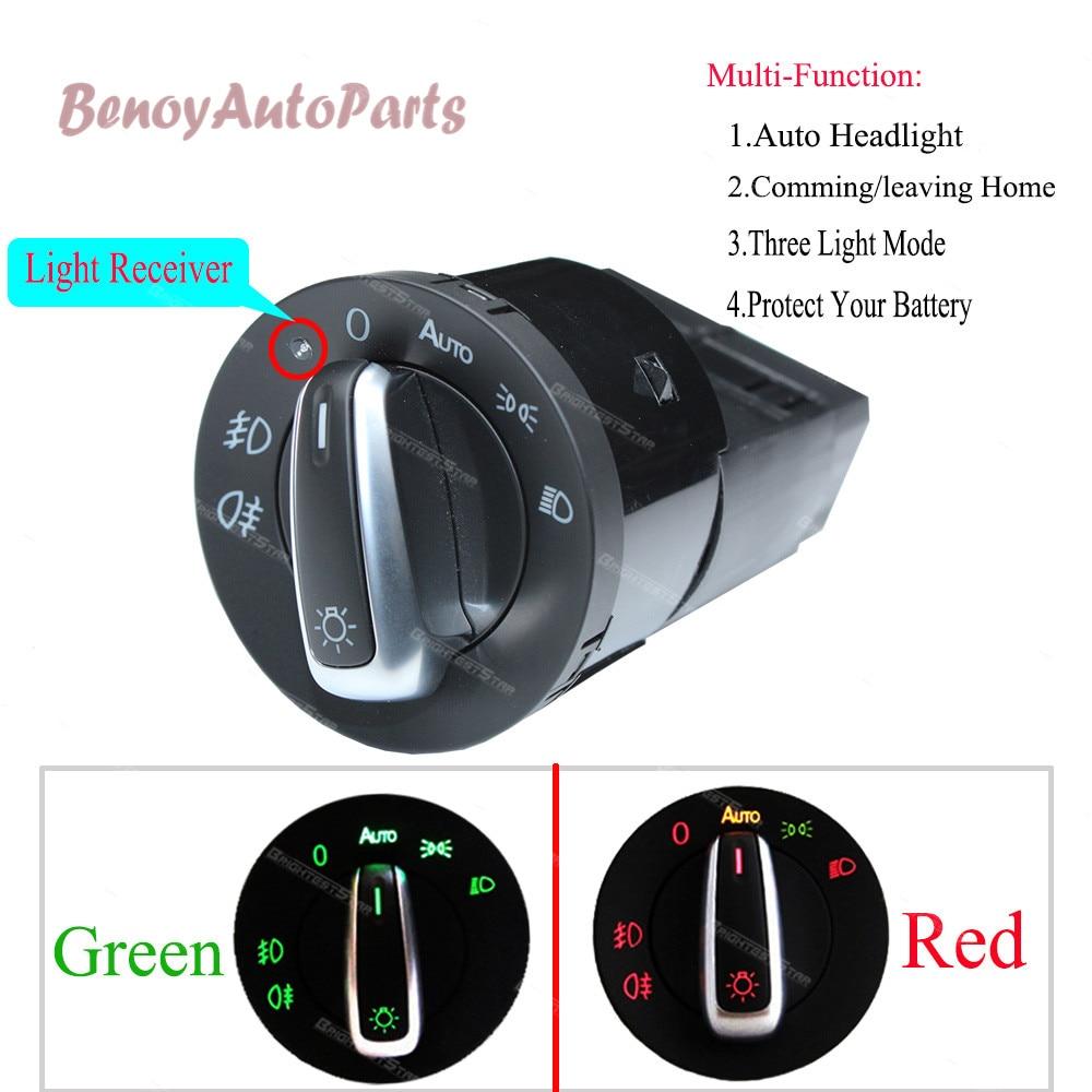 Otomobiller ve Motosikletler'ten Araba Anahtarları ve Röleleri'de OTOMATIK Far Lambası Anahtarı Işık Sensörü Modülü VW Golf Jetta Için MK4 Passat B5 Polo Bora Bettle Skoda Fabia Için